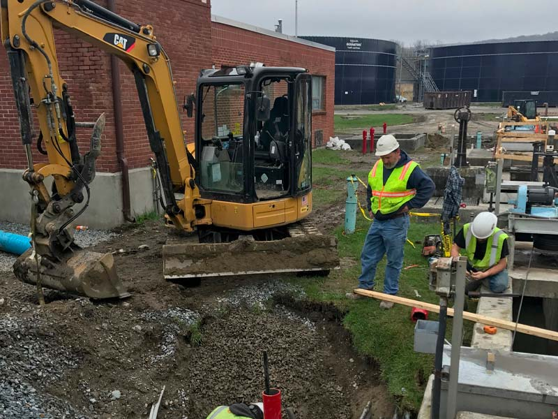 Excavating and repairs